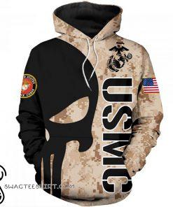 Skull marine corps usmc 3d hoodie