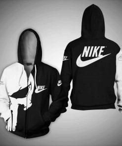 Skull nike 3d zipper hoodie