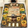 Sloth sunflower to my beautiful daughter you are my sunshine blanket