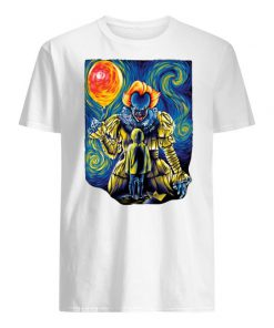Stephen king's it pennywise starry night men's shirt