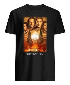 Supernatural the winchesters final season characters signatures mens shirt