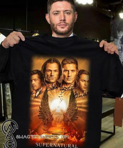 Supernatural the winchesters final season characters signatures shirt