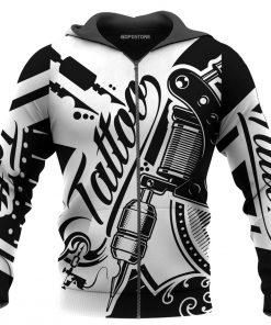Tattoo artist 3d zip hoodie