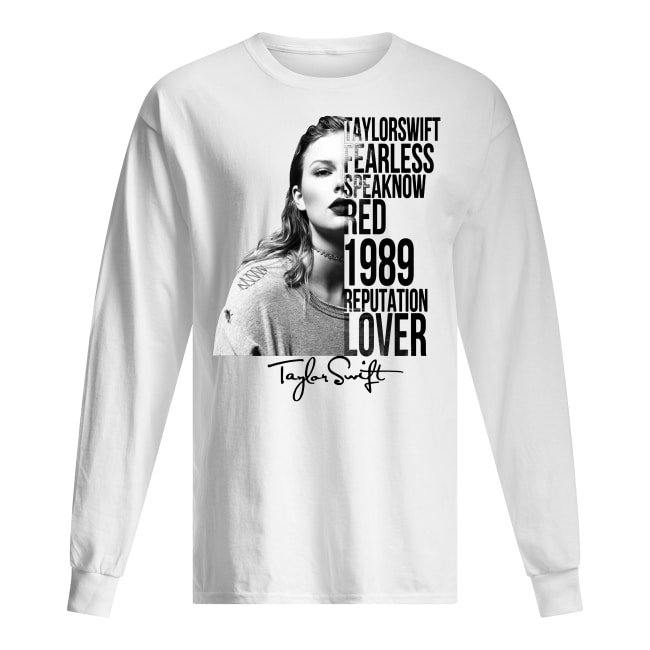 Taylor swift fearless speak now red 1989 reputation lover signature long sleeved