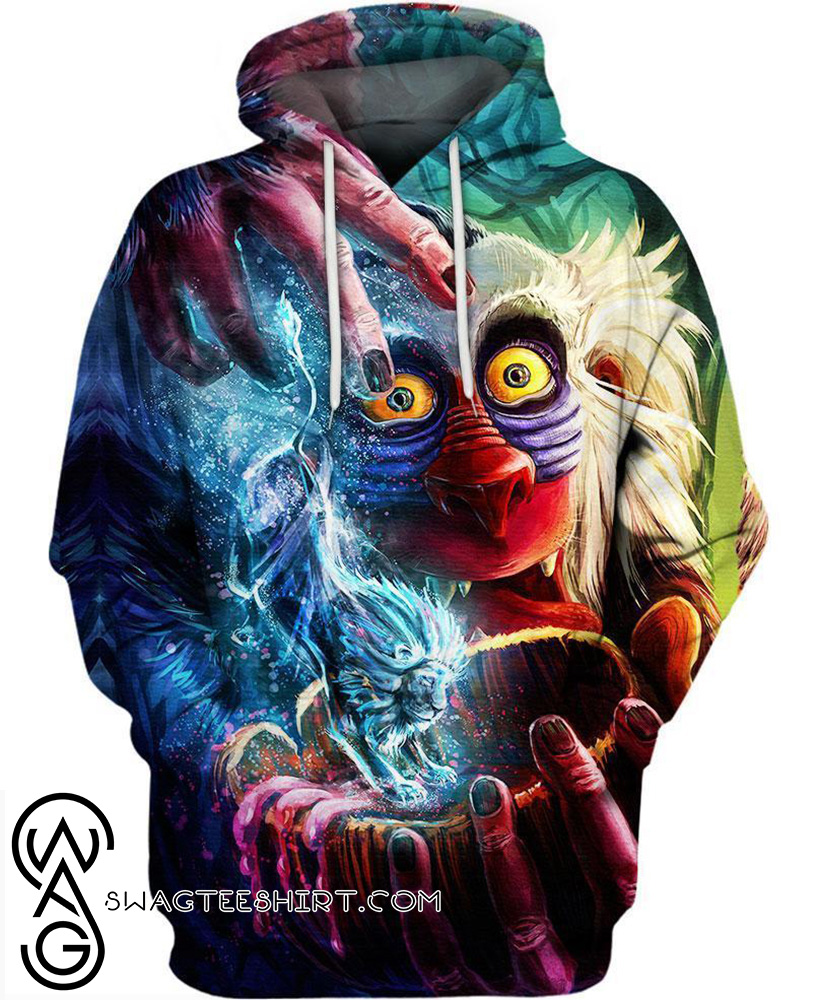 The Lion King Rafiki 3d Hoodie And 3d T Shirt