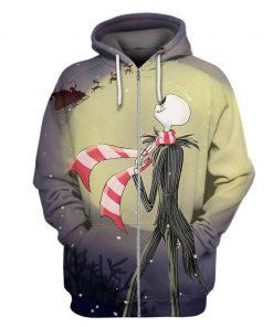 The nightmare before christmas jack skellington 3d zip hoodie