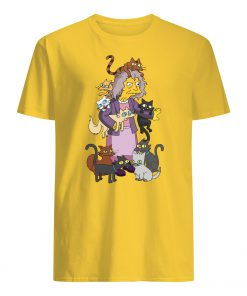 The simpsons crazy cat lady mens shirt