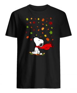 The snoopy leaf fall hello autumn mens shirt