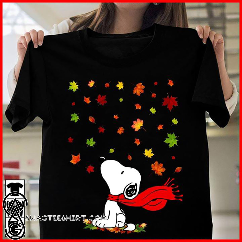 The snoopy leaf fall hello autumn shirt