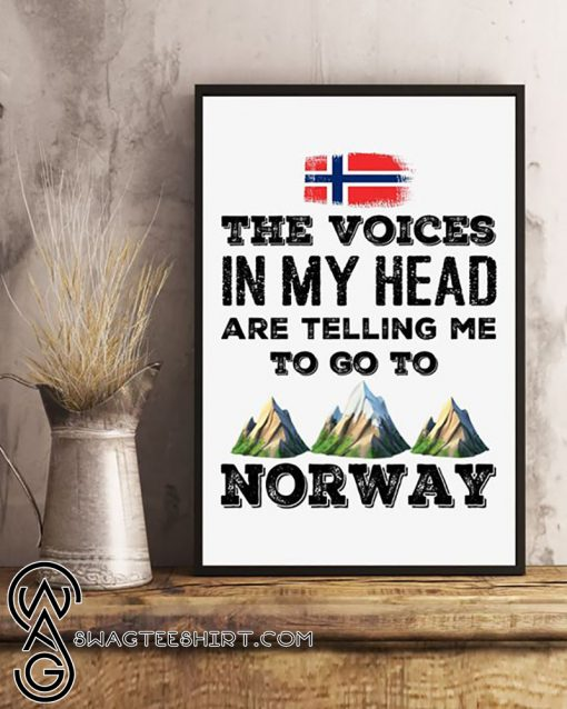 The voices in my head are telling me to go to norway poster