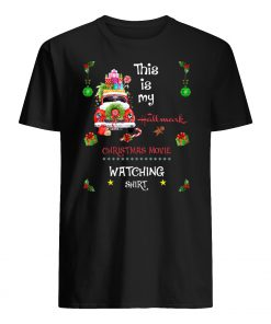 This is my hallmark christmas movies watching shirt red truck men's shirt