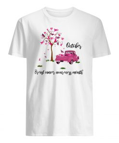 Tree of pink ribbons october is breast cancer awareness month mens shirt