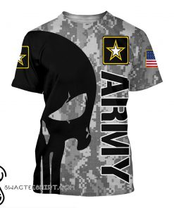 US army skull 3d t-shirt