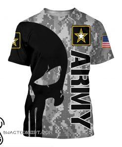 US army skull 3d t-shirt