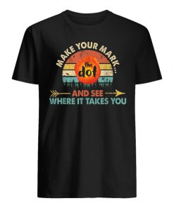 Vintage international dot day the dot make your mark and see where it takes you men's shirt