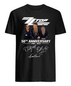 ZZ top 50th anniversary 1969 2019 signatures men's shirt