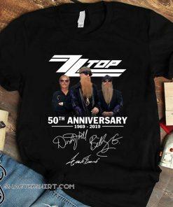 ZZ top 50th anniversary 1969 2019 signatures shirt