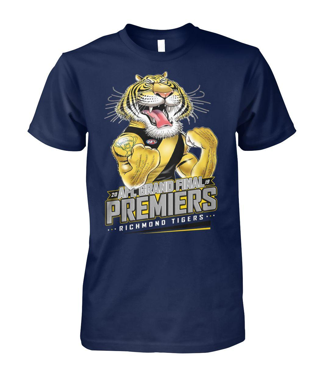 20 AFL grand final premiers richmond tigers unisex cotton tee