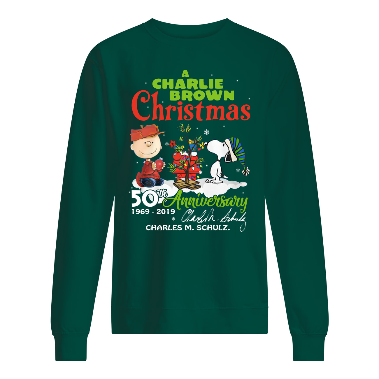 A charlie brown christmas 50th anniversary sweatshirt