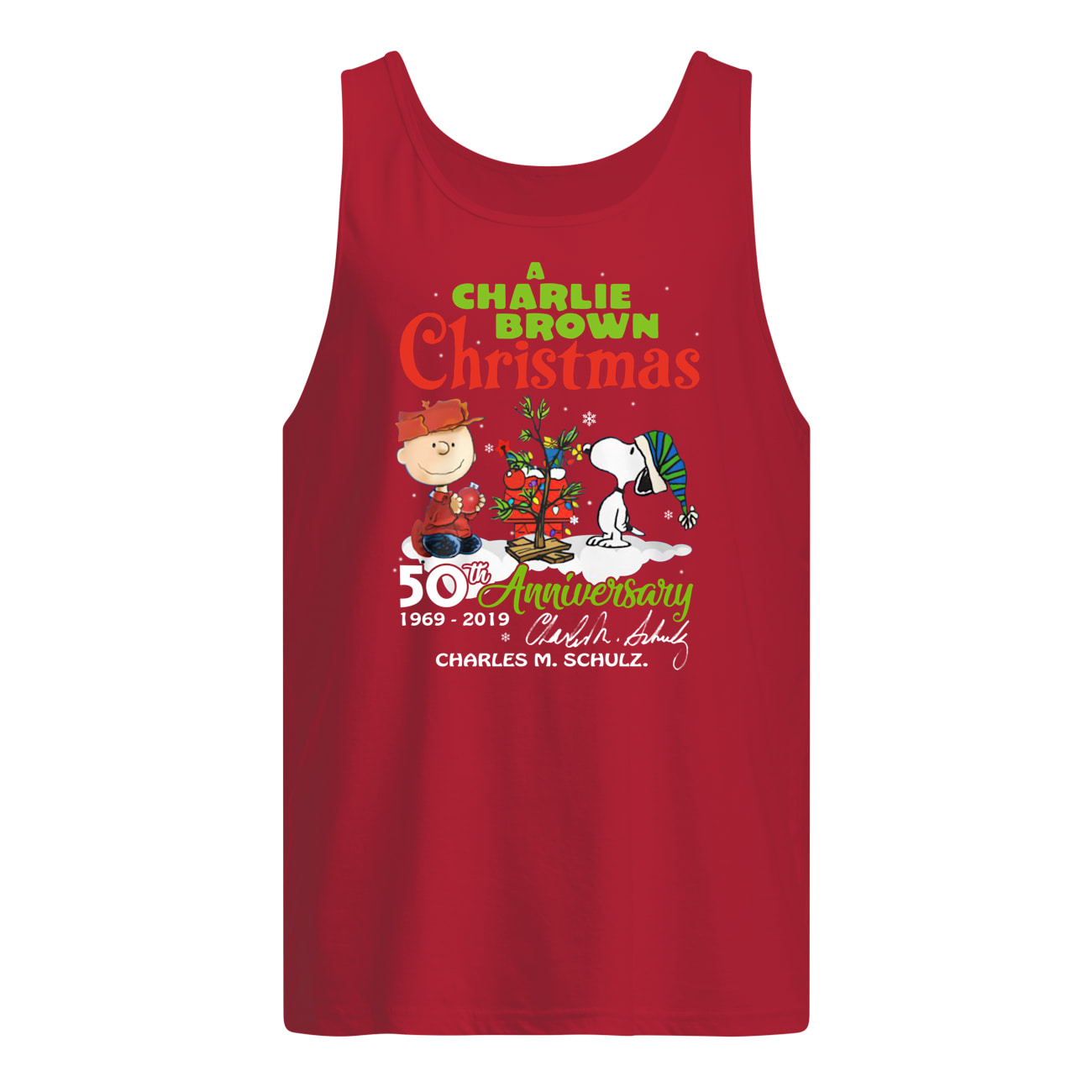 A charlie brown christmas 50th anniversary tank top