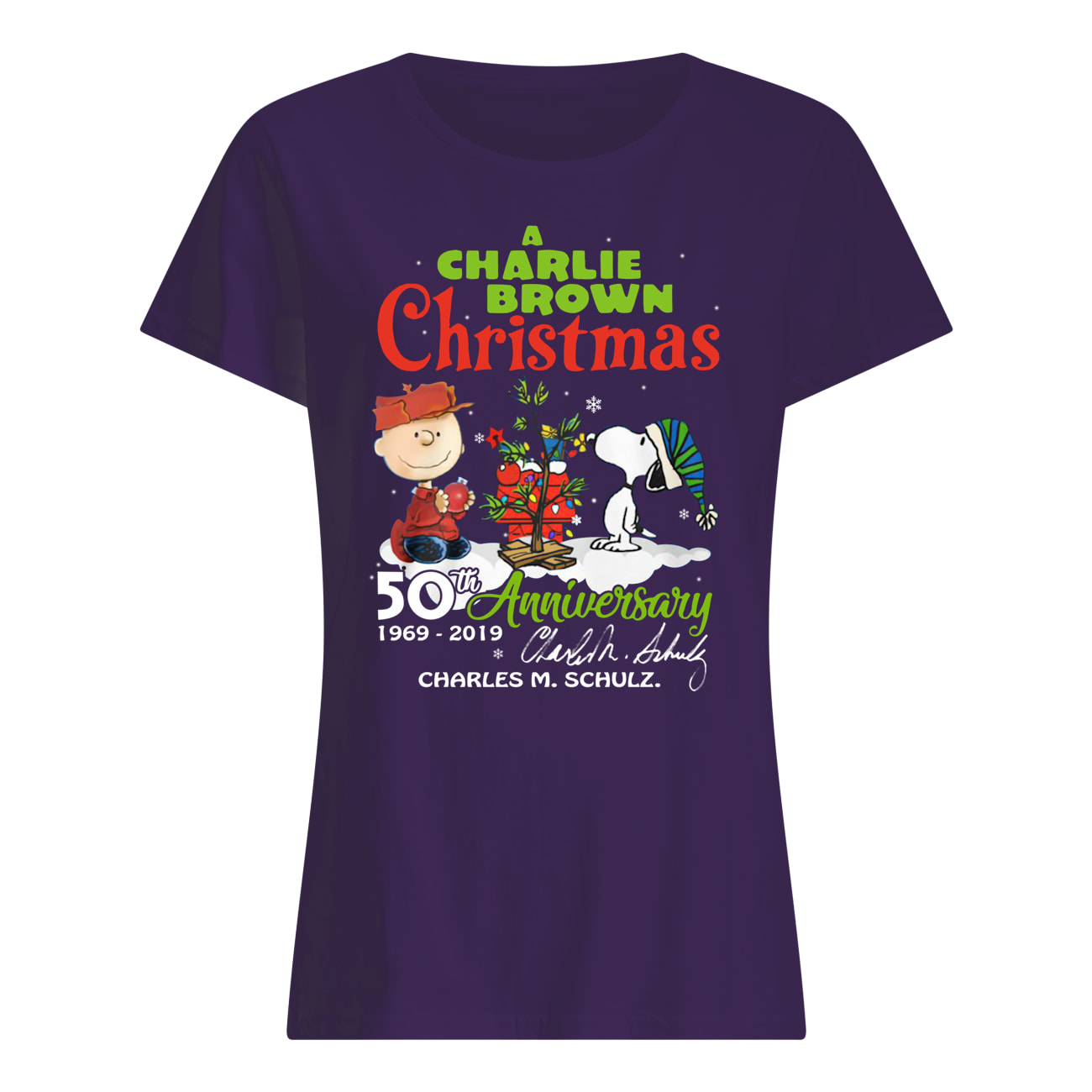 A charlie brown christmas 50th anniversary womens shirt
