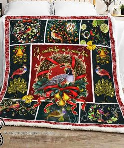 A partridge in a pear tree christmas sofa blanket