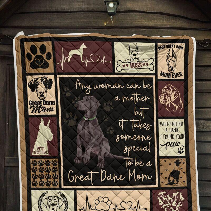 Any woman can be a mother but it takes someone special to be a great dane mom blanket - crib