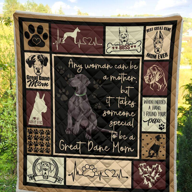 Any woman can be a mother but it takes someone special to be a great dane mom blanket - twin