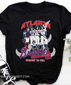 Atlanta braves dressed to kill kiss rock band shirt