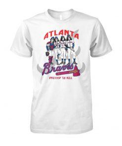 Atlanta braves dressed to kill kiss rock band unisex cotton tee