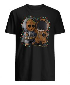 Baby groot and batman lights christmas mens shirt