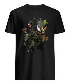 Baby groot and venom mens shirt