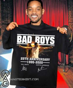 Bad boys 25th anniversary 1995-2020 signatures shirt