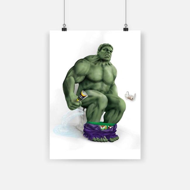 Bathroom decor hulk on the toilet poster - a4