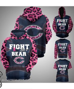 Breast cancer fight like a chicago bears 3d hoodie