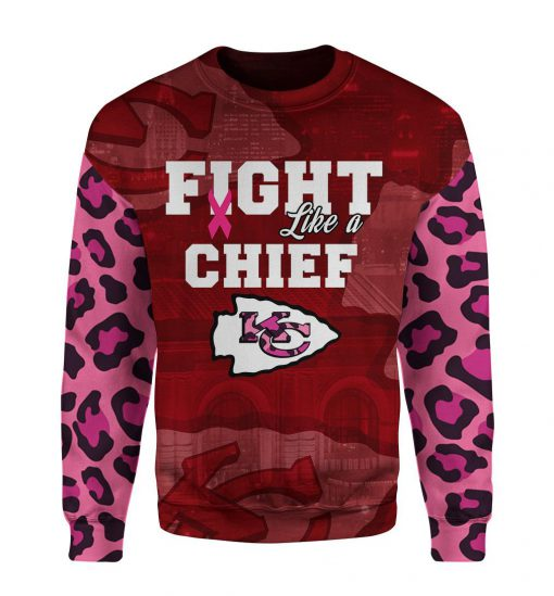 Breast cancer fight like a kansas city chiefs 3d sweater