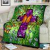 Butterflies in heaven fleece blanket