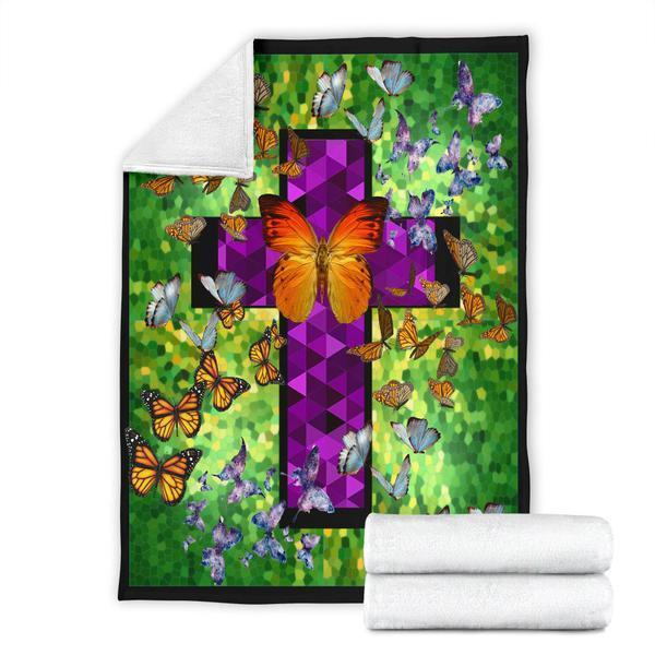 Butterflies in heaven fleece blanket - large