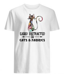 Cat easily distracted by cats and fabrics mens shirt