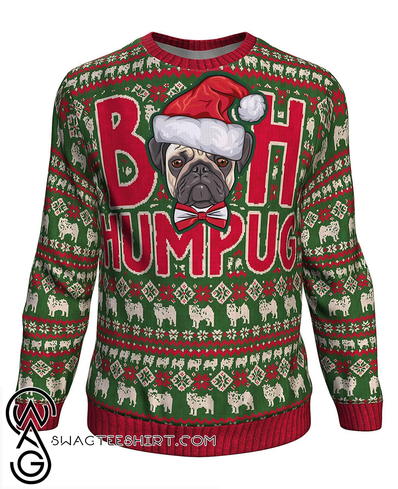 Christmas bah humpug all over print sweater