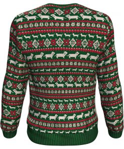 Christmas dachshund through the snow all over print sweater - maria 2