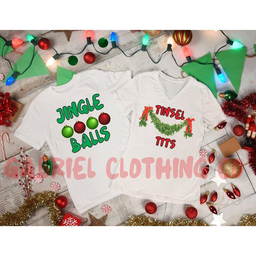 Christmas jingle balls and tinsel tits - size l
