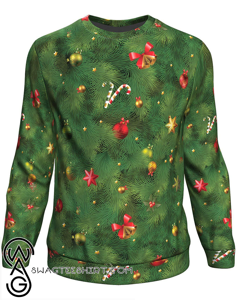 Christmas tree all over print sweater