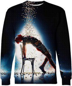 Deadpool 2 flashdance in a splash of bullets 3d sweatshirt