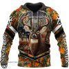 Deer flag arrow full printing hoodie