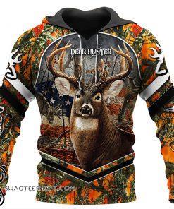 Deer flag arrow full printing hoodie