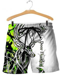 Deer hunting neon 3d all over printed shorts