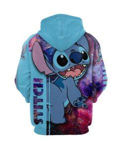 Disney stitch galaxy 3d hoodie - size M