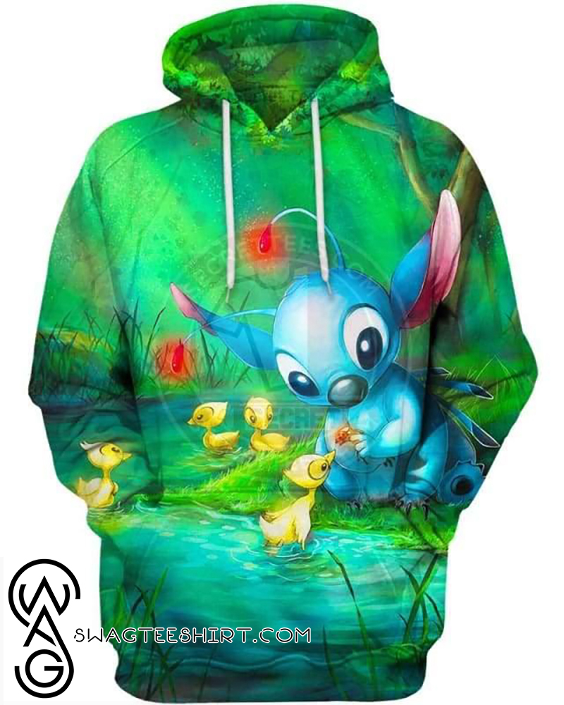 Disney stitch loves everything all over print hoodie