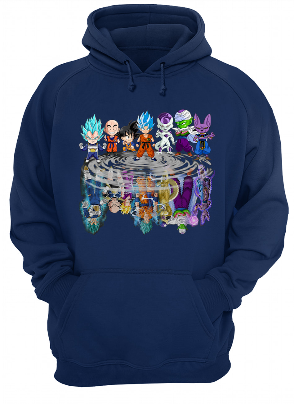 Dragon ball characters water mirror hoodie